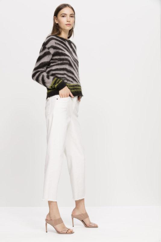 spodnie kolor kredowy butik bydgoszcz zweżane skrócone
