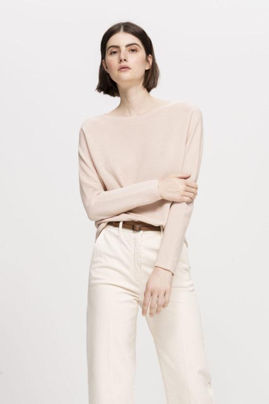 sweter luisa cerano kolor skorupkowy zima 2020 butik luisa bydgoszcz kolor porcelana