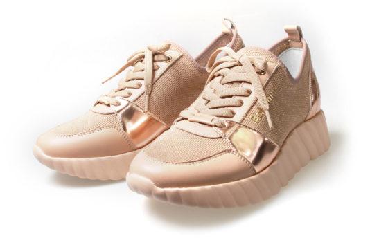 sneakersy różowe baldinini na wysokiej podeszwie new butik luisa bydgoszcz