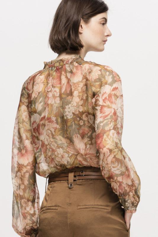 bluzka luisa cerano nadruk kwiatowy czysty jedwab butik luisa bydgoszcz