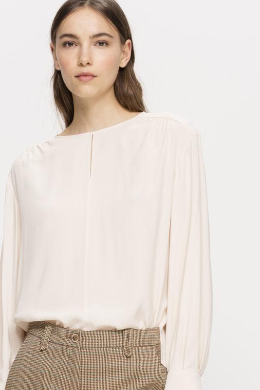bluzka damska skorupkowy kolor elegancka nowa kolekcja butik luisa