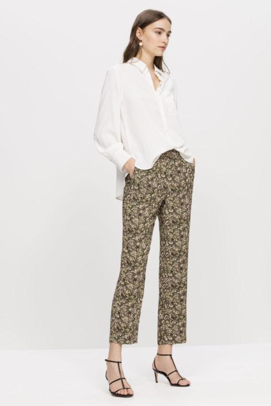bluzka jedwabna biała wydłużony tył damska butik luisa bydgoszcz