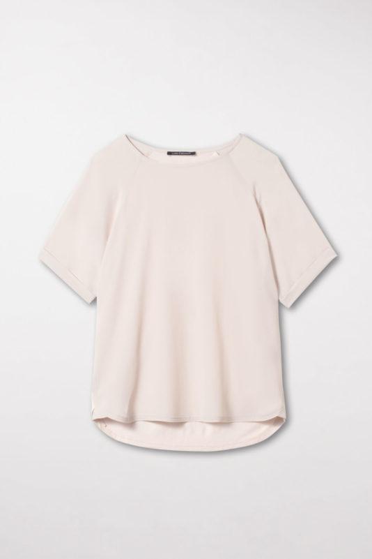 t-shirt damski porcelanowy kolor rekawy krótkie podwiniete butik luisa bydgoszcz