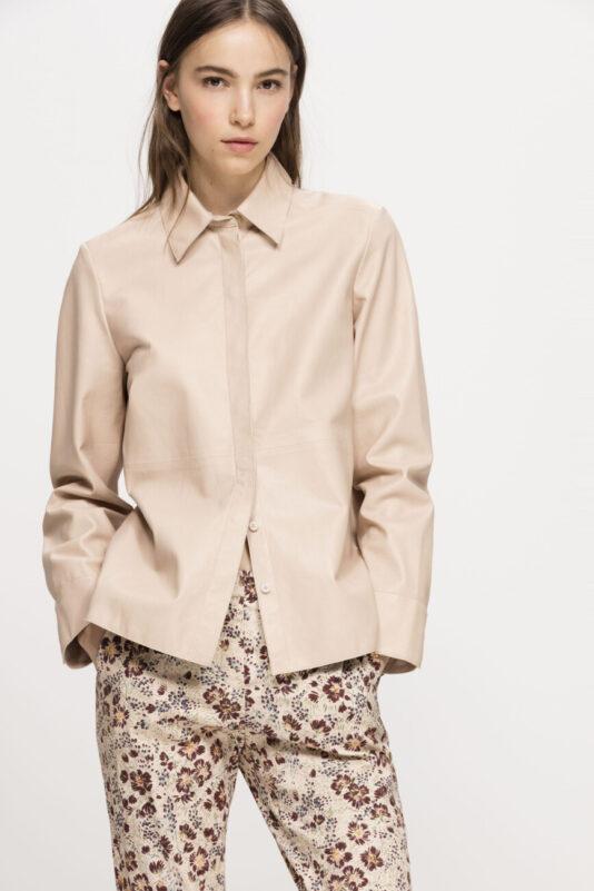 bluzka luisa cerano skórzana z nappy jagnięciej barwiona naturalnie butik luisa bydgoszcz