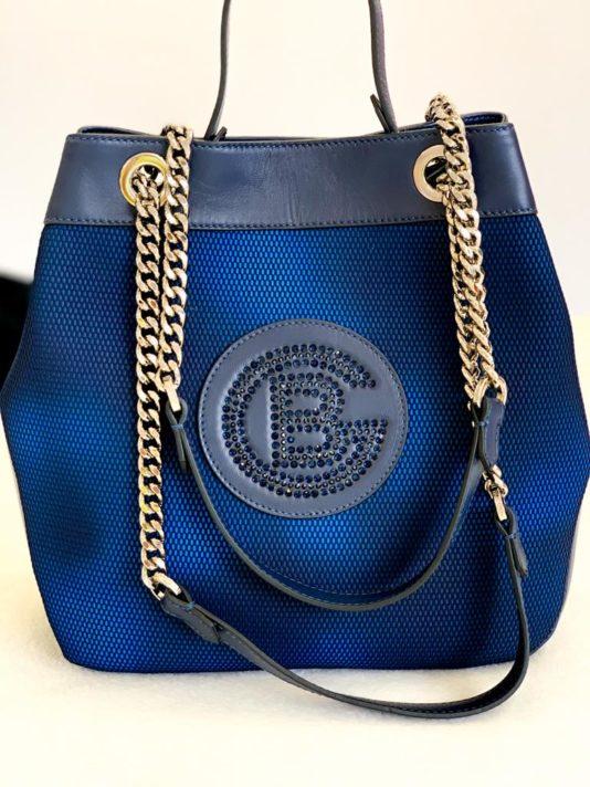 torebka baldinini damska niebieska elegancka butik luisa bydgoszcz