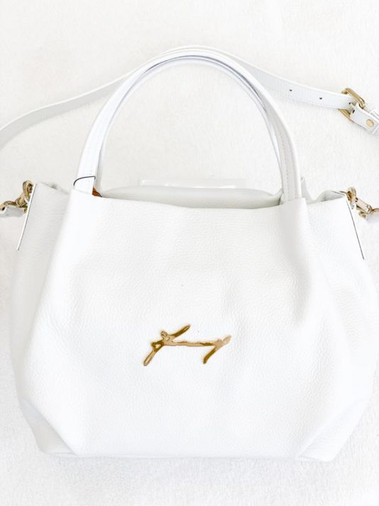 torebka baldinini damska biała elegancka butik luisa bydgoszcz skórzana