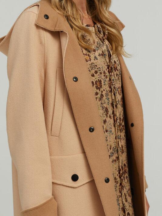 płaszcz damski z wełny i kaszmiru luisa cerano butik luisa bydgoszcz kolor beżowy