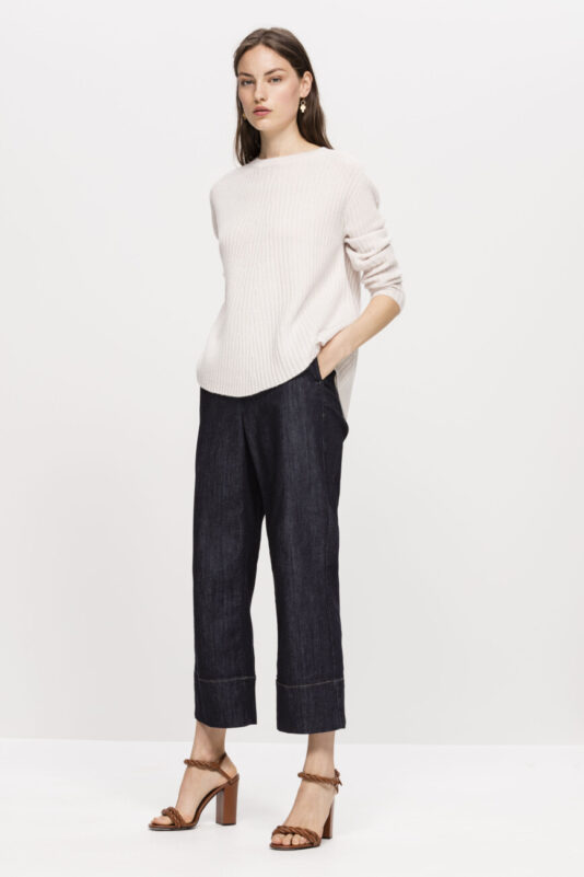 sweter luisa cerano kolor bezowy prazkowany butik luisa bydgoszcz