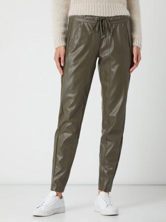 spodnie cambio materiał skoropodobny khaki butik luisa