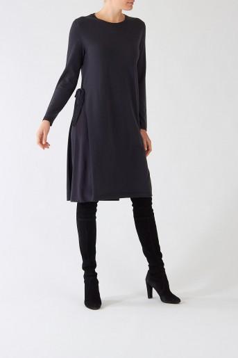 sukienka luisa cerano kształt A btuik luisa bydgoszcz ciemnoniebieska