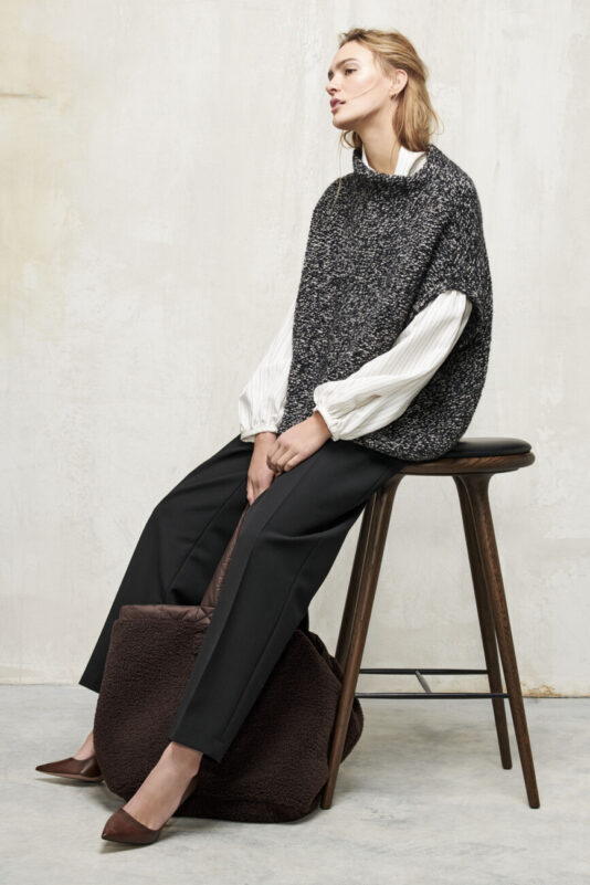 peleryna wełniana sweter damski tweed butik luisa bydgoszcz