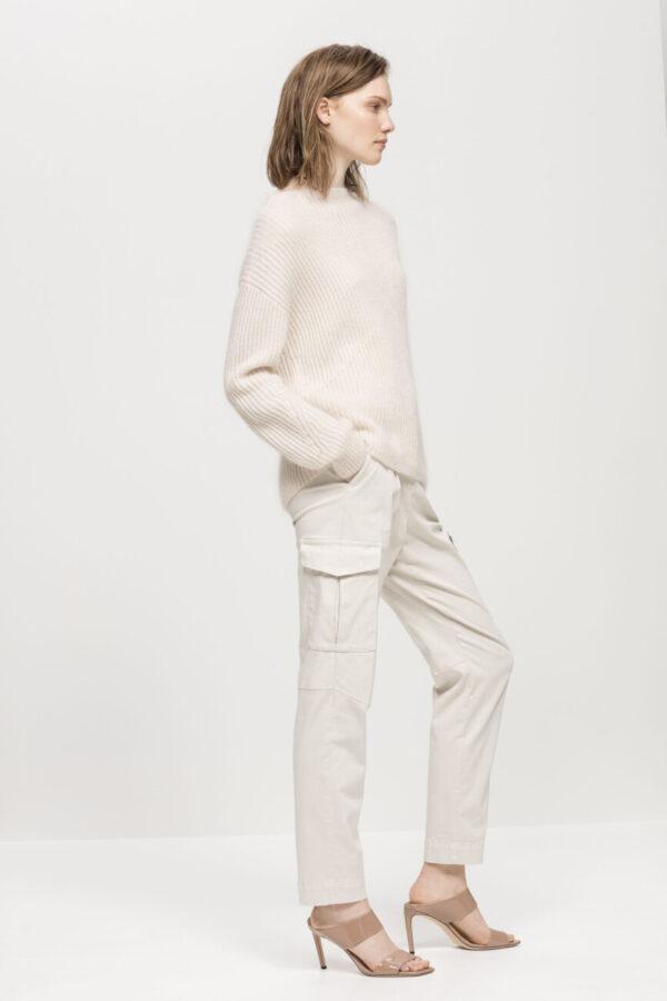 sweter luisa cerano damski kolor ivory ze stójka butik luisa bydgoszcz