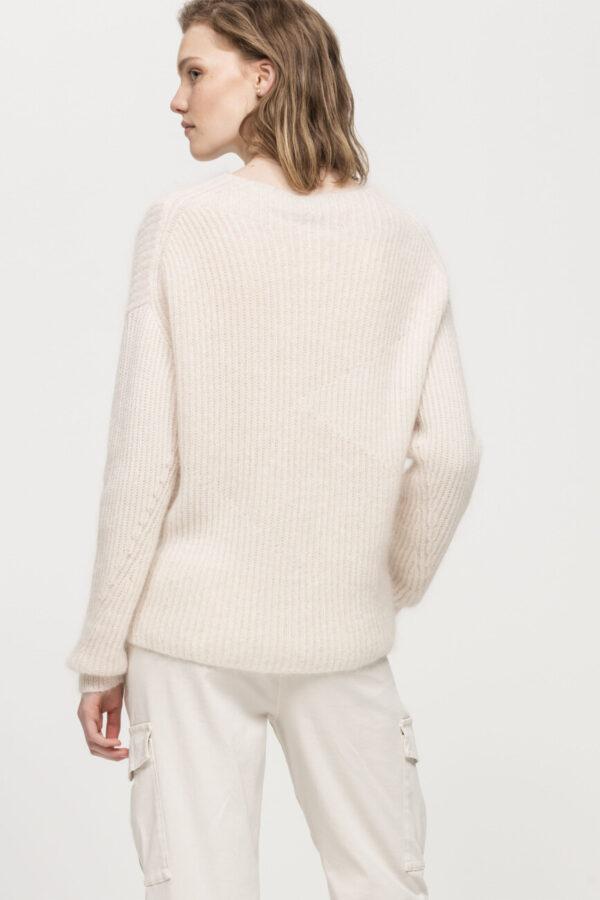 sweter luisa cerano damski kolor ivory ze stojka butik luisa bydgoszcz