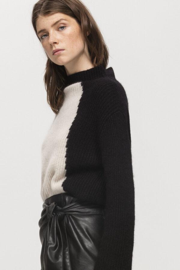 sweter luisa cerano dwukolorowy butik luisa cerano modowy