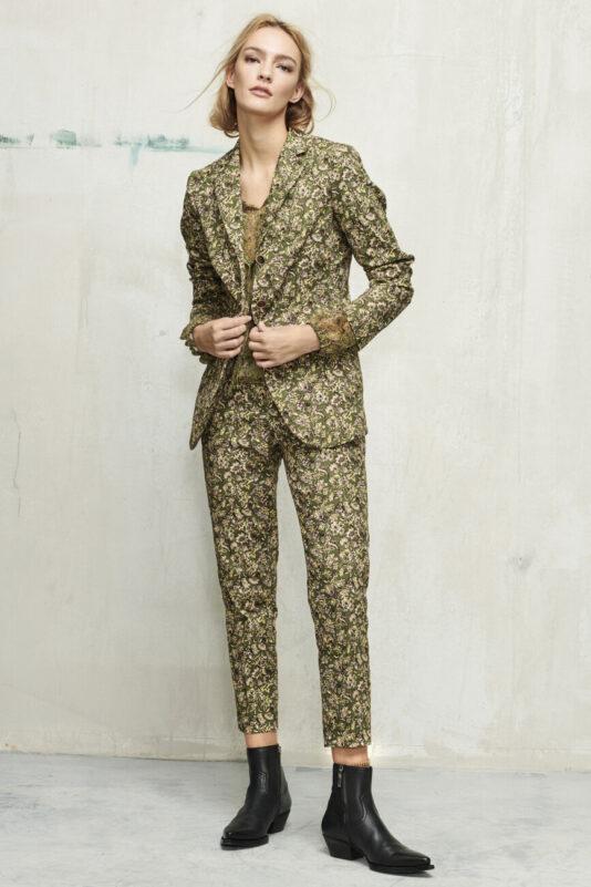 spodnie w kwiaty elegancka dmaska butik luisa cerano bydgoszcz