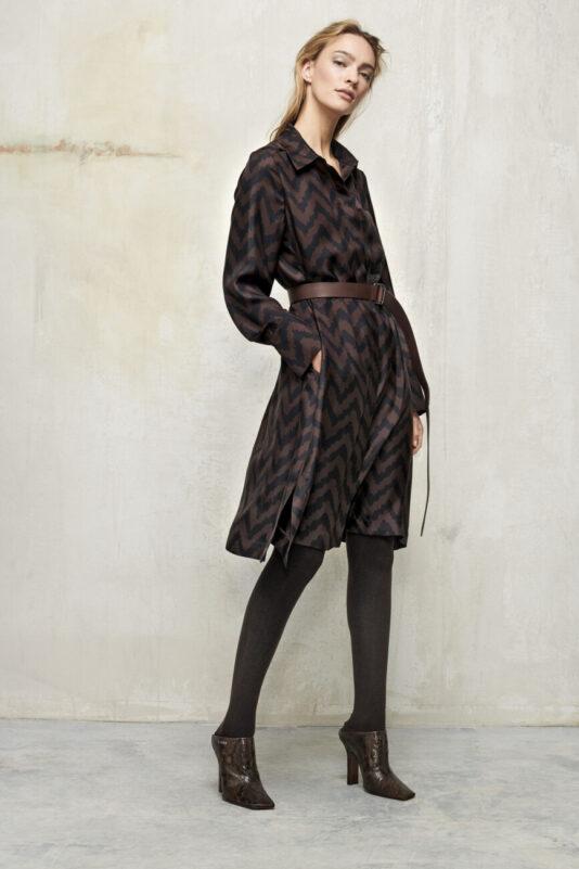 suknia w jodełkę do kolan jedwabna butik luisa bydgoszcz