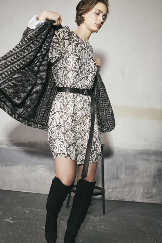 sukienka stonowana elegancka wieczorowa lekko mieniący wzór butik luisa bydgoszcz