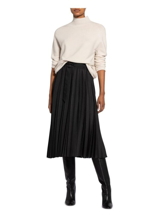 plisowana spódnica luisa cerano czarna damska dłuższa wzór w kratę elegancka butik luisa bydgoszcz