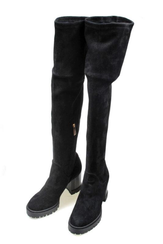 kozaki damskie baldinini czarne zimowe długie butik luisa bydgoszcz