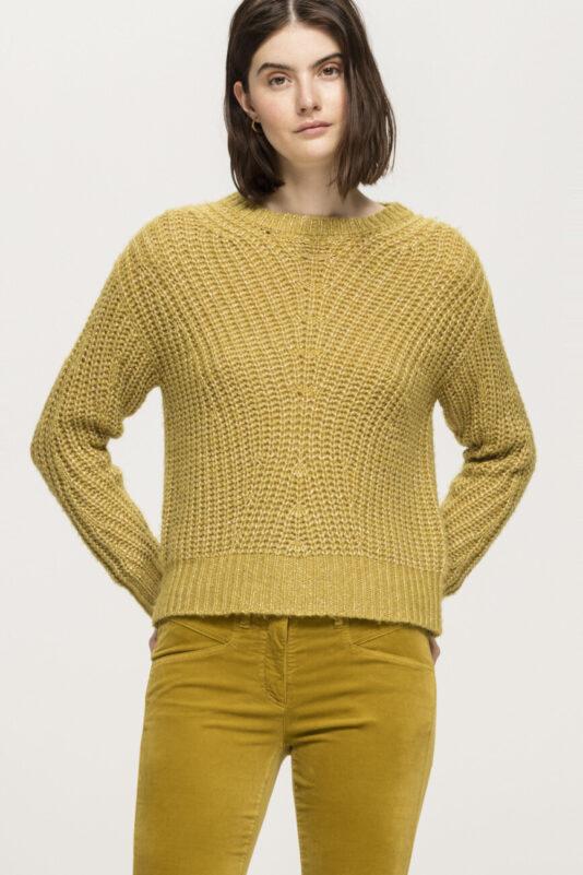 sweter luisa cerano żółty dwukierunkowy btuik luisa bydgoszcz elegancki