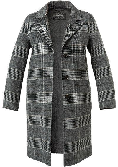 płaszcz damski milestone wełaniany delikatny wzór w kratę elegancki odcienie popiel butik Lusia bydgoszcz