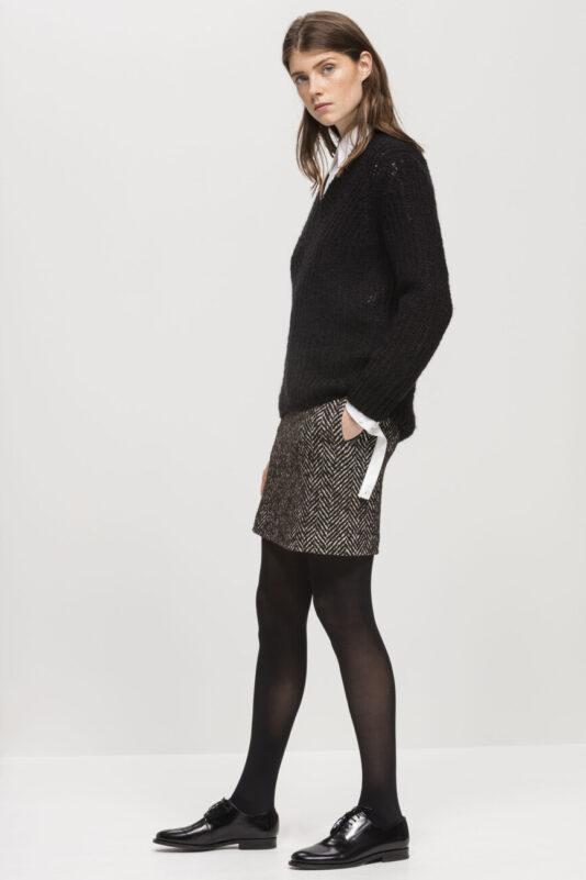 spodnica-luisa-cerano-damska mini w jodełkę elegancka butik luisa bydgoszcz