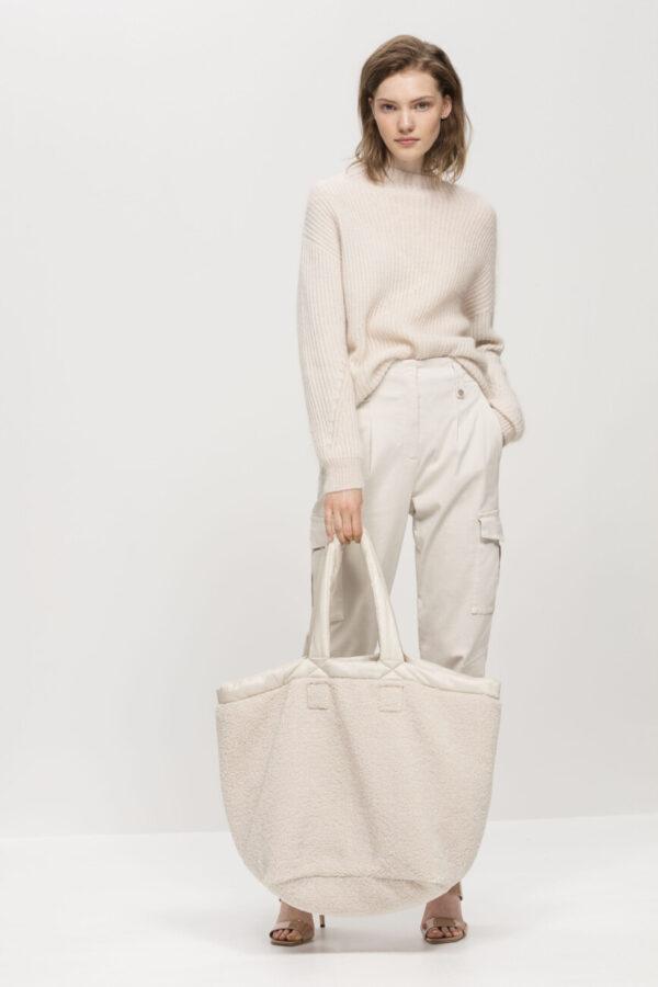 torebka luisa damska ivory butik luisa bydgoszcz sztuczne futerko na ramię