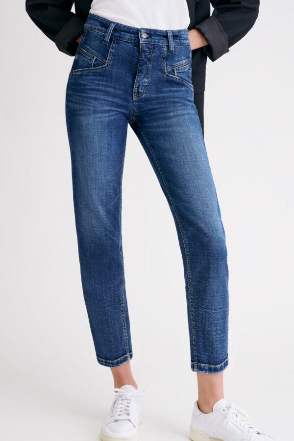 spodnie-cambio-damskie niebieskie sportowe wygodne butik luisa bydgoszcz