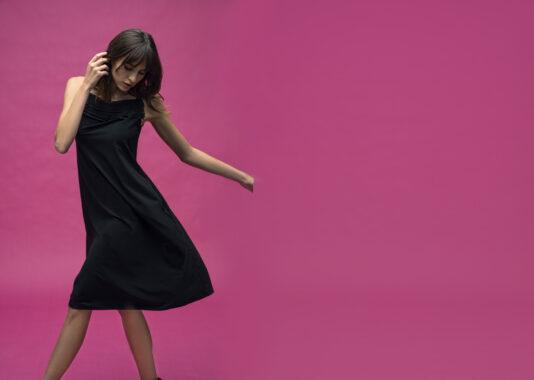 beate heymann sukienka czarna 2021 wieczorowa elegancka butik luisa bydgoszcz