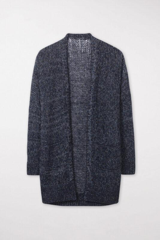 kardigan-luisa-cerano-damski długi sweter granatowy blask butik luisa bydgoszcz