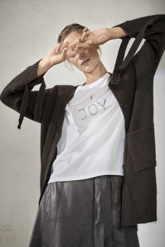 sweter-luisa-cerano-kardigan damski długi modowy prążkowany butik luisa bydgoszcz
