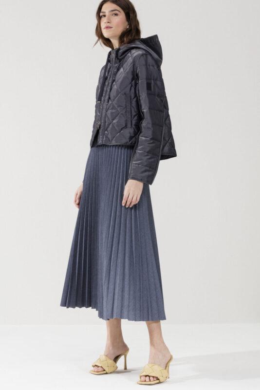 długa spódnica luisa cerano ala dżins plisowana elegancka butik luisa bydgoszcz