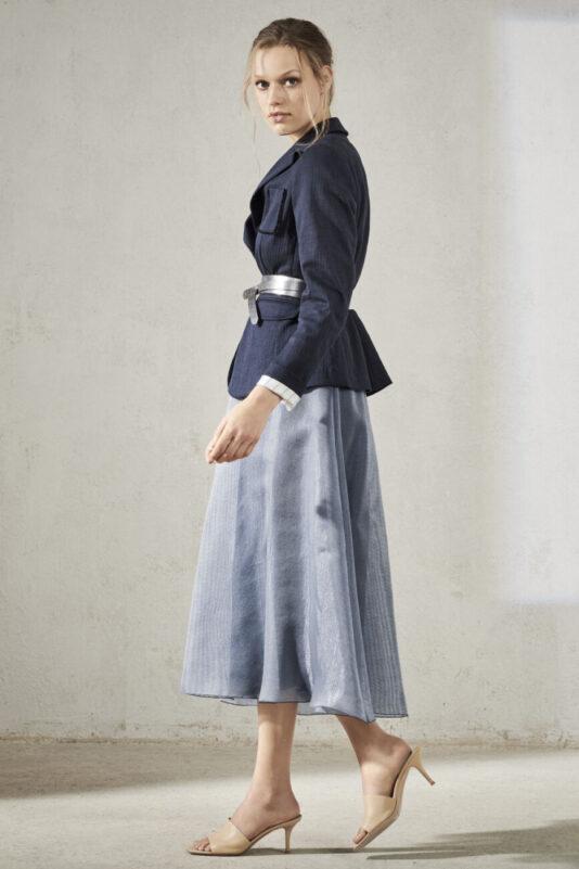 spódnica rozkloszowana dżins połyskująca butik luisa bydgoszcz wiosna lato 2021