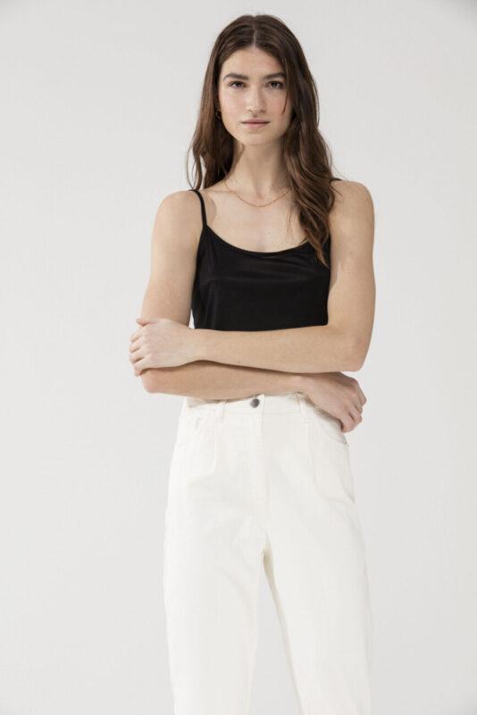 top luisa cerano damski na ramiączkach naturalny czarny klasyczny baza butik luisa bydgoszcz