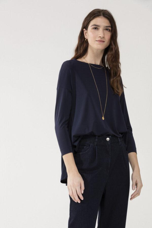 bluzka luisa cerano granatowa damska luźny krój elegancka modowa butik luisa bydgoszcz