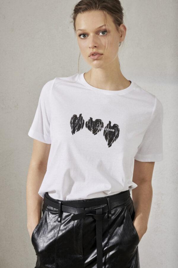 t-shirt luisa cerano biały z nadrukiem damski krótki rekaw butik luisa bydgoszcz