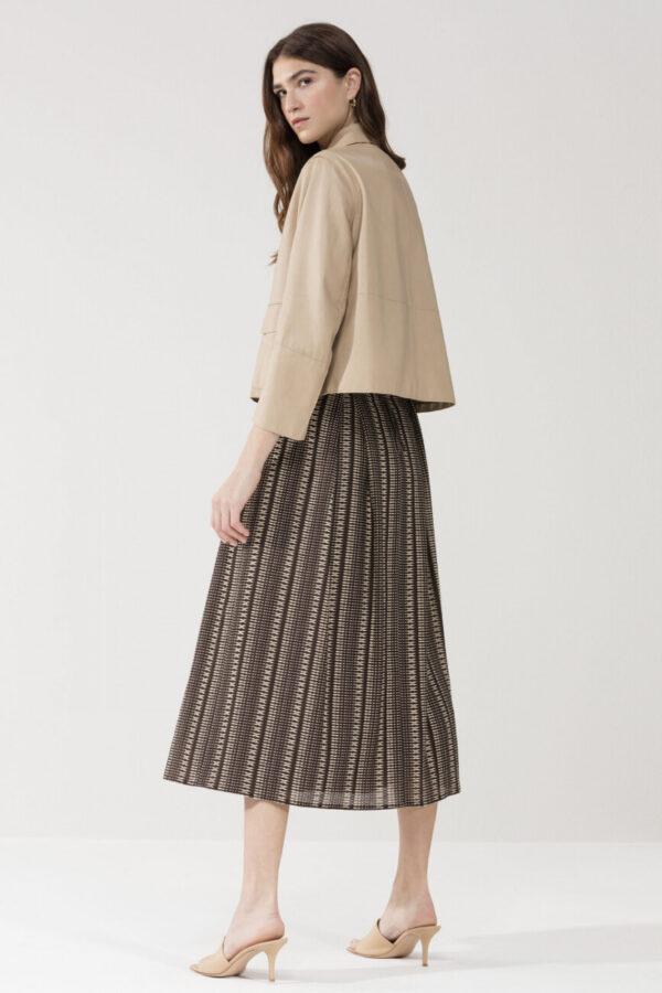 kurtka skórzana elegancka modowa damska bezowa butik luisa bydgoszcz