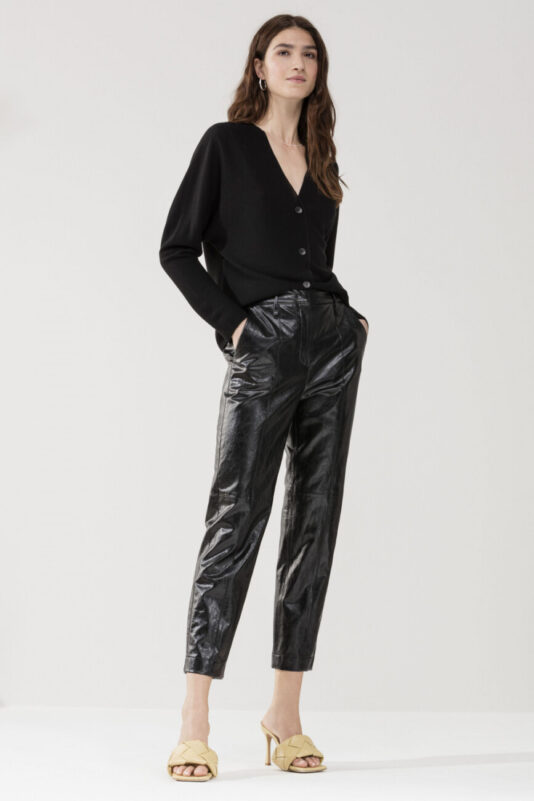 spodnie czarne damskie luisa cerano ecoskóra modowe wygodne butik luisa bydgoszcz