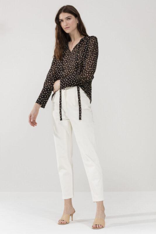 luźne spodnie luisa cerano damskie kolor kredowy eleganckie modowe business butik luisa bydgoszcz