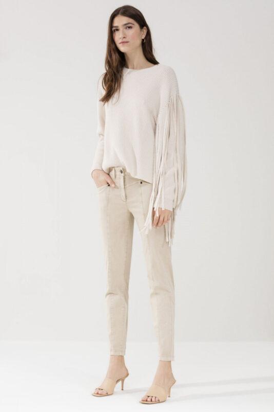 spodnie-luisa-cerano-damskie-eleganckie-beżowe-gladkie-skinny-butik-luisa-bydgoszcz