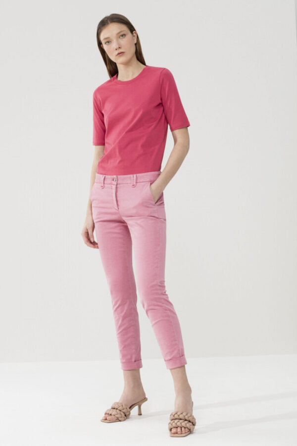 t-shirt-luisa-cerano-gładki malinowy przyjemny wygodny butik luisa bydgoszcz