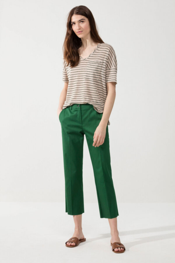 t-shirt-luisa-cerano-damski czysty len butik luisa bydgoszcz w paski ekstrawagancki
