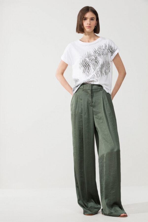 t-shirt-luisa-cerano-damski bawełna biały z nadrukiem animals butik luisa bydgoszcz