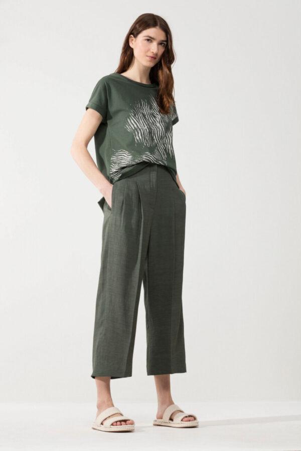 t-shirt-luisa-cerano-damski bawełna zielony z nadrukiem animals butik luisa bydgoszcz