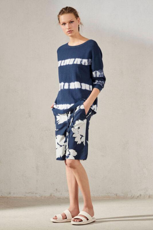 sweter-luisa-cerano-damski lużny tie-dye niebieski butik luisa bydgoszcz modowy