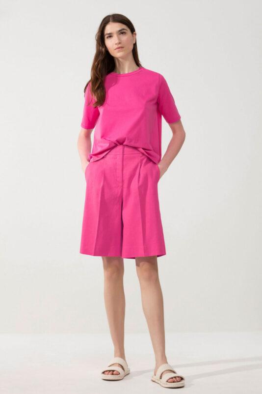 t-shirt-luisa-cerano-różowy z organicznej bawełny wydłużony tył butik luisa bydgoszcz