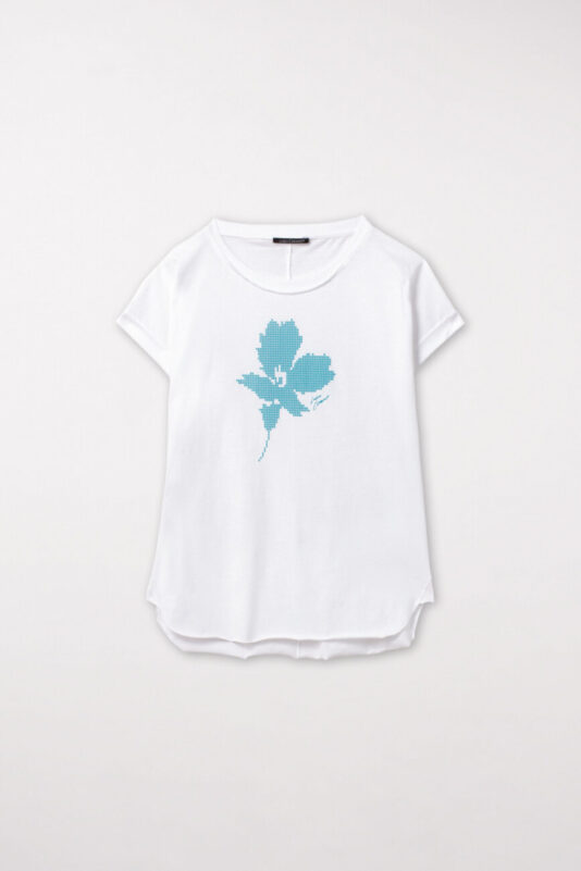 t-shirt-luisa-cerano-damski z detalem nadruk butik luisa bydgoszcz krótki rekaw