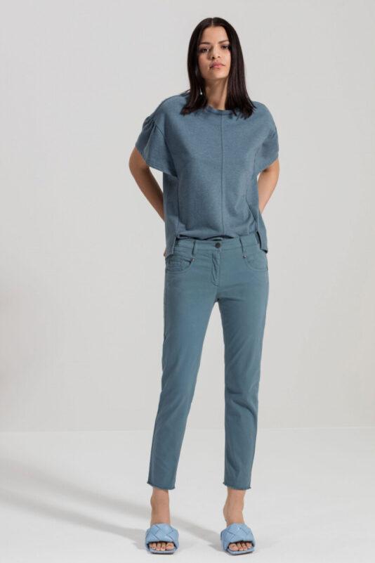 bluzka-luisa-cerano-tshirt szaro niebieski elegancki modowa luźna casual butik luisa