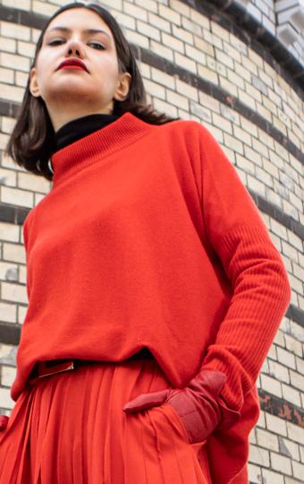 sweter-beate-heymann-golf czerwony damski modowy butik luisa bydgoszcz
