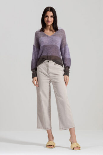spodnie-luisa-cerano-damskie denim szerokie dzwony butik luisa bydgoszcz beżowe